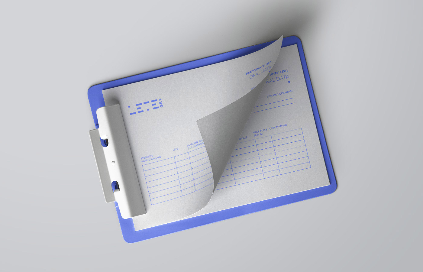 learning teaching greek research university logo design branding stationary paper folder clip
