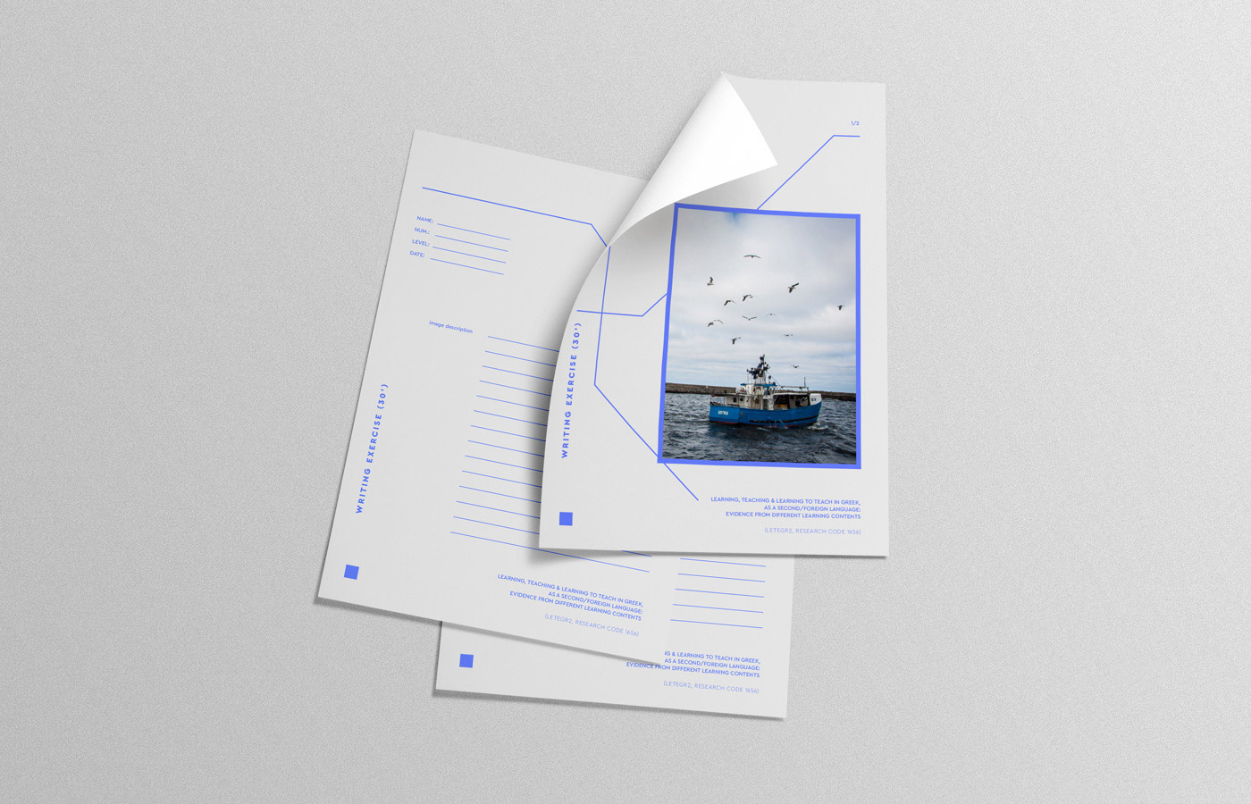 learning teaching greek research university logo design branding stationary paper essay lines photo