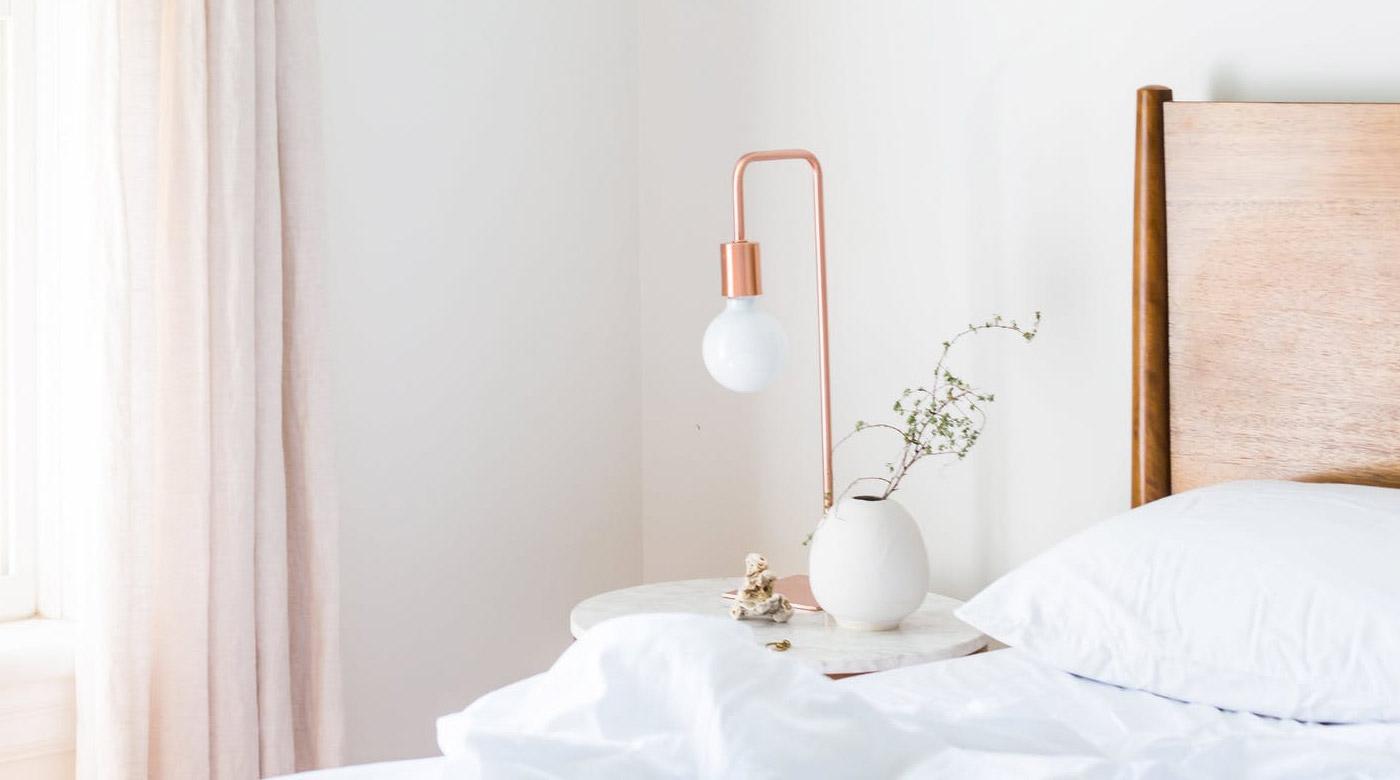white linen curtain light for branding