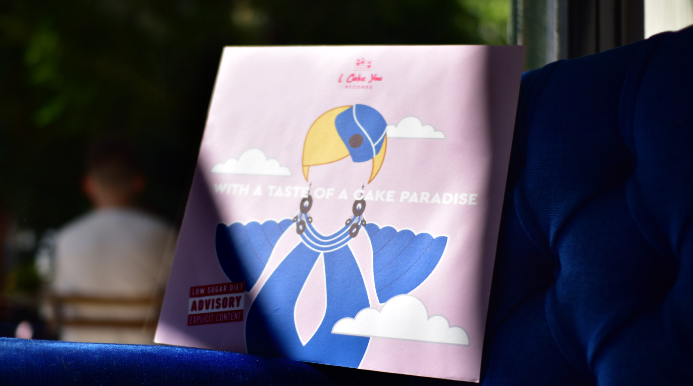 handmade cookies branding packaging logo design pop music menu catalogue vinyl sleeve britney spears