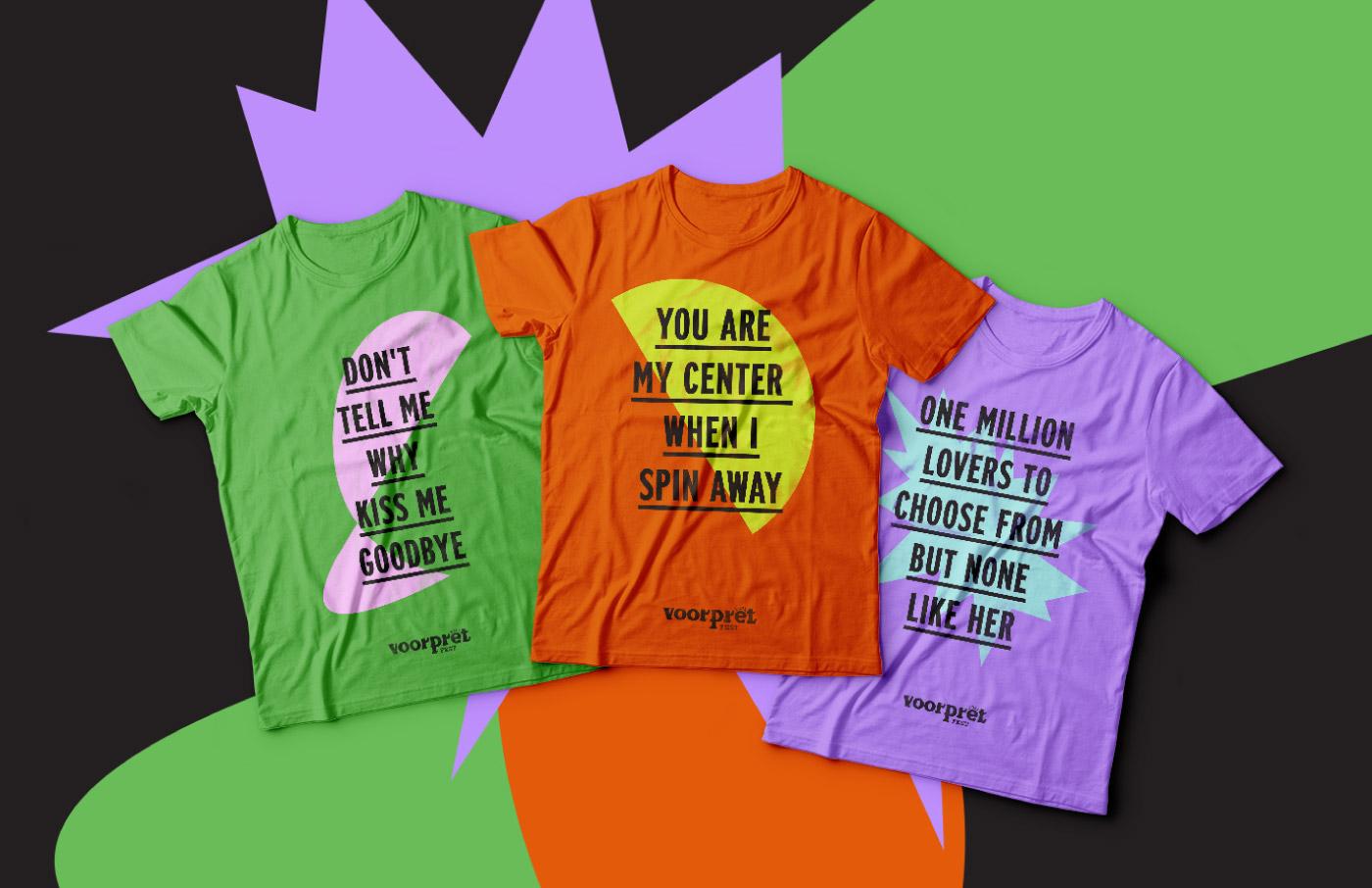 music festival concert logo design visual identity colors shirts merchandise lyrics